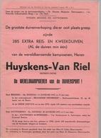 MA/1/   VERKOPING DUIVEN   HUYSKENS VAN RIEL EKEREN DONK  1955   23p  Met Vele Fotos - Revues & Journaux