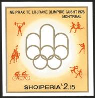V) 1976 ALBANIA, OLYMPIC GAME, MONTREAL CANADA, SOUVENIR SHEET, MNH - Albania
