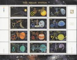 MARSHALL INSELN 530-541, Zusammendruckbogen Postfrisch **, Das Sonnensystem, 1994 - Marshall