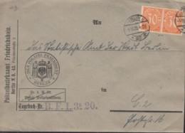 INFLA  DR Dienst 2x 20 MeF, Geprüft: Peschl, Auf Brief, Gestempelt: Berlin C25 5.10.1920 - Oficial