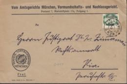 INFLA  DR Dienst 47 EF, Geprüft: Peschl, Auf Orts-Brief, Gestempelt: München 21.APR 1922 - Oficial
