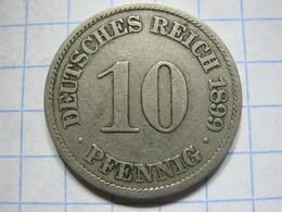 10 Pfennig 1899 (A) - [ 2] 1871-1918 : German Empire