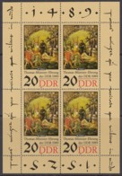 DDR 3271, Kleinbogen, Postfrisch **, Thomas Müntzer 1989 - DDR