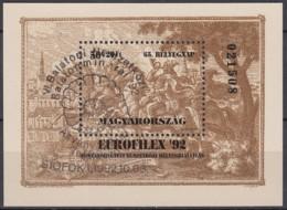 UNGARN Block 221 A, Gestempelt (Motiv Ammonit), Internationale Briefmarkenausstellung EUROFILEX '92, Budapest 1992 - Blocchi & Foglietti