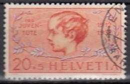 """SCHWEIZ 316, Gestempelt, Mit Abart: Roter Punkt Links Von Und über 1. """"E"""", Pro Juventute 1937 - Abarten"""