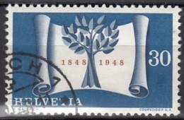 """SCHWEIZ 499, Gestempelt, Mit Abart: Dunkle Stelle (Retusche) Unter """"30"""", 100 Jahre Schweizer Bundesstaat 1948 - Variétés"""