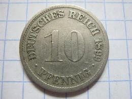 10 Pfennig 1899 (D) - [ 2] 1871-1918 : German Empire