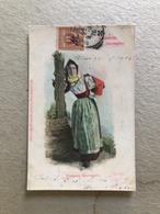SENNORI (SARDEGNA)   COSTUME GIORNALIERO 1903 - Costumi