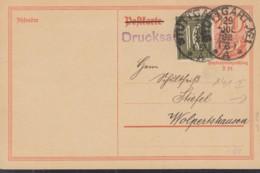 INFLA  DR P 141 I + ZFr. 159 A MiF, Postreiter, Drucksache, Gestempelt: Stuttgart 29.JUL 1922 - Deutschland
