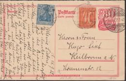 INFLA  DR P 145 A + ZFr. 144 II, 163, Postreiter, Gestempelt: Freiburg B. 15.9.1922 - Allemagne