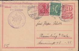 INFLA  DR P 145 F + ZFr. 145 A II, 162, Postreiter, Gestempelt: Grossammensleben 6.9.1922 - Allemagne