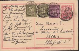 INFLA  DR P 145 F + ZFr. 2x 159 A, 183 A, Postreiter, Gestempelt: Neuss 28.8.1922 - Allemagne