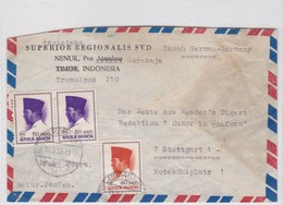 1956 INDONESIA AIRMAIL- SUPERIOR REGIONALIS SVD. CIRCULEE TO ROTEBUHLPLATZ. TIMBRE A PAIR- BLEUP - Indonésie