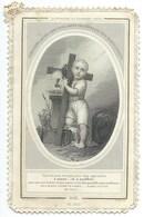 IMAGE RELIGIEUSE / LA 1ERE PRIERE DU ST ENFANT JESUS - Devotion Images