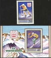 V) 1975 MONGOLIA, 12TH WINTER OLYMPIC GAME 1976, AUSTRIA, INNSBRUCK, MNH - Mongolia