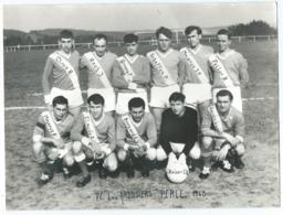 ANCIENNE GRANDE PHOTO EQUIPE DE FOOT FOOTBALL CLUB F.C. LES ARDOISIERS A PERLE, 1968, RAMBROUCH, LUXEMBOURG - Non Classés