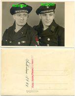2. WK Fotokarte, Marine, Matrosen Kriegsmarine, Orden Abzeichen, Plauen Sachsen - 1939-45