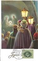12.1.1956  -  JOYEUX NÖEL  Timbre Caritas - Maximum Cards
