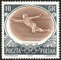 V) 1956 POLAND, 16TH OLYMPIC GAME, MELBOURNE - 1944-.... Republic