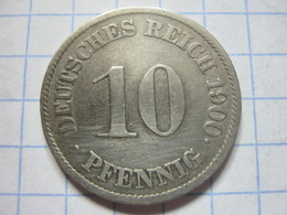 10 Pfennig 1900 (J) - [ 2] 1871-1918 : German Empire