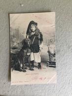 NUORO (SARDEGNA)  COSTUMI   BAMBINO CON CANE  1903 - Costumi