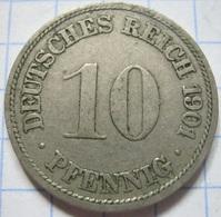 10 Pfennig 1901 (F) - [ 2] 1871-1918 : German Empire