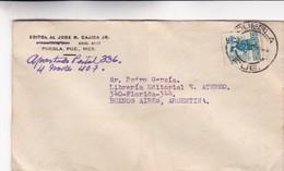 1945 MEXICO COMMERCIAL COVER-EDITORIAL JOSE M,CAJICA JR. CIRCULEE TO ARGENTINE- BLEUP - Mexique