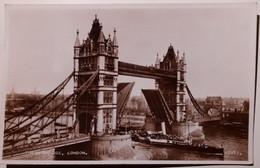 UK - England - London - Thames, Tower Bridge - 1954 - Real Photo - Boat, Ship - River Thames