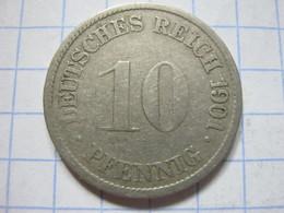 10 Pfennig 1901 (G) - [ 2] 1871-1918 : German Empire