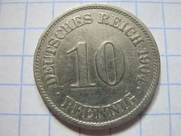 10 Pfennig 1904 (A) - [ 2] 1871-1918 : German Empire