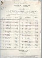 MA/1/  W.O.II   AANGIFTE VAN REISDUIVEN + GEDODE DUIVEN 1940   VERMEYEN ST.MARIABURG - Revues & Journaux