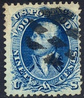 US #101 Used 90c Washington Of 1867 W/F Grill 9x13mm - Used Stamps