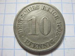 10 Pfennig 1905 (A) - [ 2] 1871-1918 : German Empire