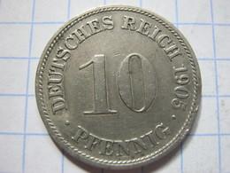 10 Pfennig 1905 (D) - [ 2] 1871-1918 : German Empire