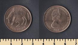 Saint Helena Island 2 Pence 1984 - Saint Helena Island