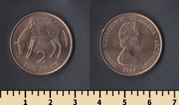 Saint Helena Island 2 Pence 1984 - Santa Helena