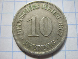 10 Pfennig 1907 (A) - [ 2] 1871-1918 : German Empire