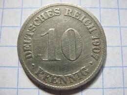 10 Pfennig 1907 (D) - [ 2] 1871-1918 : German Empire