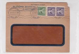 1934 SWEDEN COMMERCIAL COVER-SLOORS MASKIN. CIRCULEE- BLEUP - Suède
