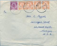 1951 , MALAYA , MALAISIE  - PERAK , TAIPING - MICHIGAN , SOBRE CIRCULADO , SULTÁN YOUSOUF IZZUDDIN - Perak