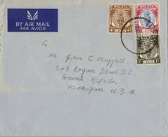 1952 , MALAYA , MALAISIE  - PERAK , TAIPING - MICHIGAN , SOBRE CIRCULADO , SULTÁN YOUSOUF IZZUDDIN - Perak