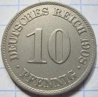 10 Pfennig 1908 (A) - [ 2] 1871-1918 : German Empire