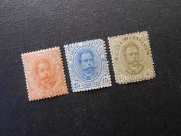 Mi 68-70**MNH - König Umberto L - 1893/95  Mi 19,50 € - Ungebraucht