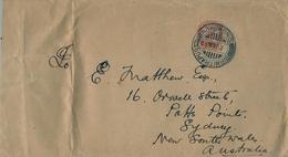 1932 , INDIA , MAGNÍFICO SOBRE CIRCULADO A SYDNEY  , BIRMITRAPUR - SINGHBHUM , ESTADO DE JHARKHAND . YV. 116 - 1911-35 King George V