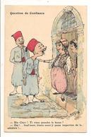 """CHAGNY Illustrateur QUESTION DE CONFIANCE """" Dis Chéri Ti Viens Prendre Le Kaoua? Humour Prostitution Algérie - Chagny"""