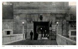 Virginia  Fort Monroe , Main Gate, Bridge Over Moat - United States
