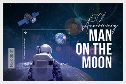 H01 Malta 2019 50th Anniversary Man On The Moon MNH Postfrisch - Malta (Orden Von)