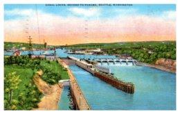 Washington Seattle , Canal Locks, Second To Panama - Seattle