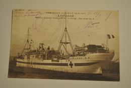 Campagne D Orient 1914 1917 Louqsor Navire Hopital Francais De 1er Rang En Rade De X - Guerre