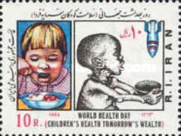 Iran 1984 World Health Day Stamp Food Bomb Child - Militaria